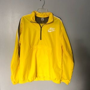 NIKE | yellow windbreaker parka | M